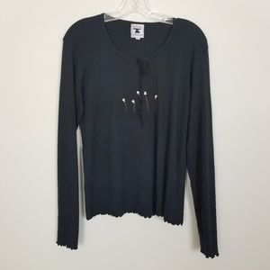 Pictures By Jonny Was Black Long Sleeves Shirt L
